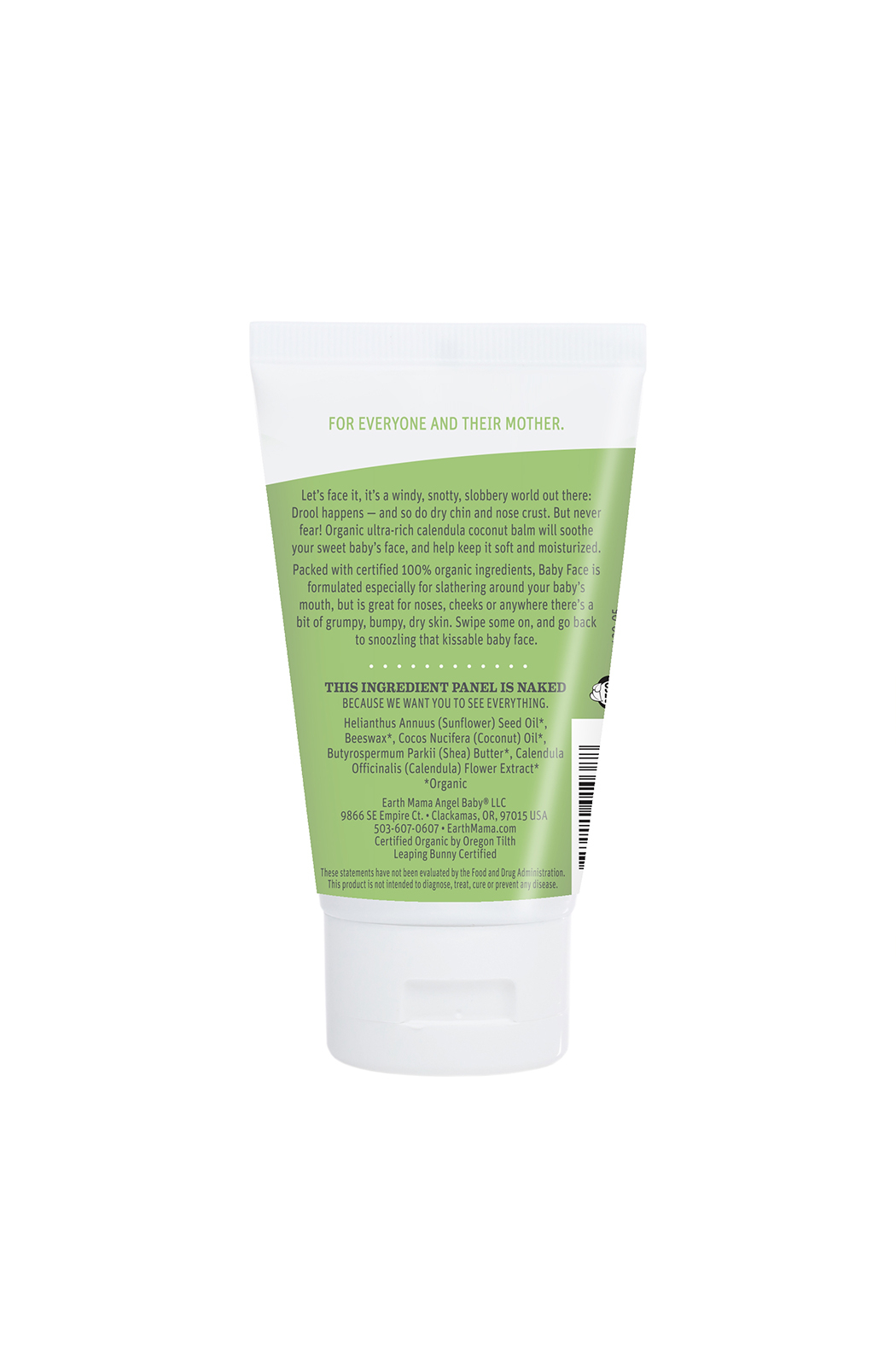 Earth Mama Organic Baby Face Nose And Cheek Balm - Front Full Image