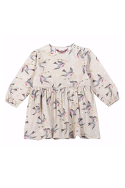Paper Wings Organic Birds & Stars Skirted Romper - Front cropped