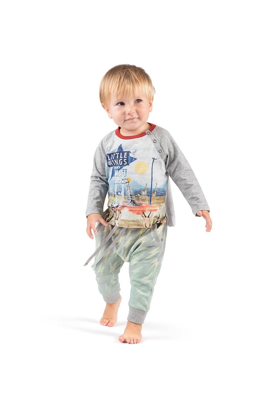 Paper Wings Organic Bolt Classic Trackies - Side Cropped Image