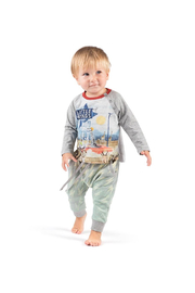 Paper Wings Organic Bolt Classic Trackies - Side cropped