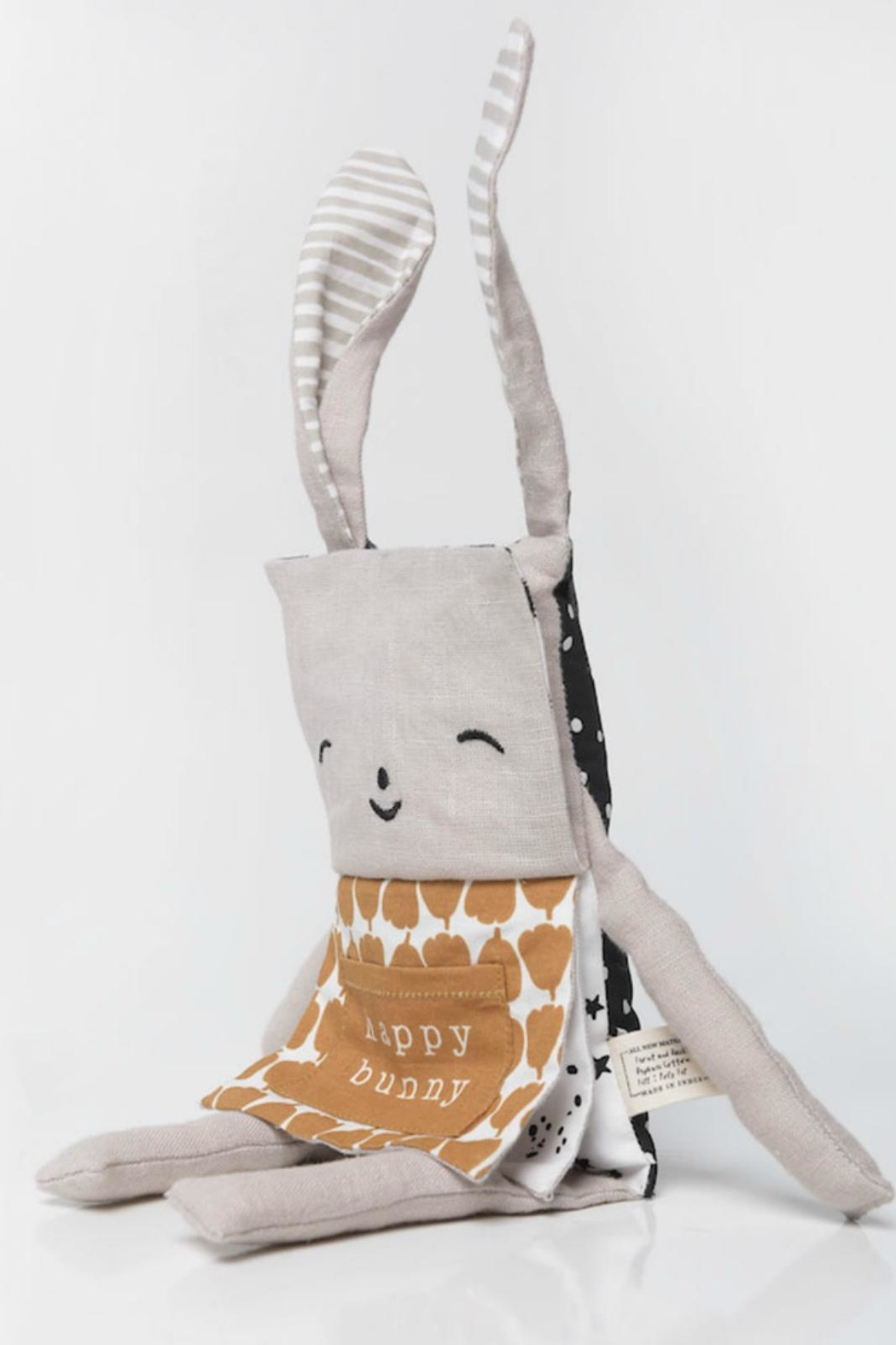 Wee Gallery Organic Bunny Flippy-Friend - Front Full Image