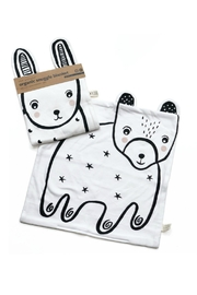 Wee Gallery Organic Bunny Snuggle-Blanket - Front full body