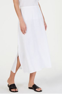 Eileen Fisher Organic Cotton A-Line Maxi Skirt White - Product List Image
