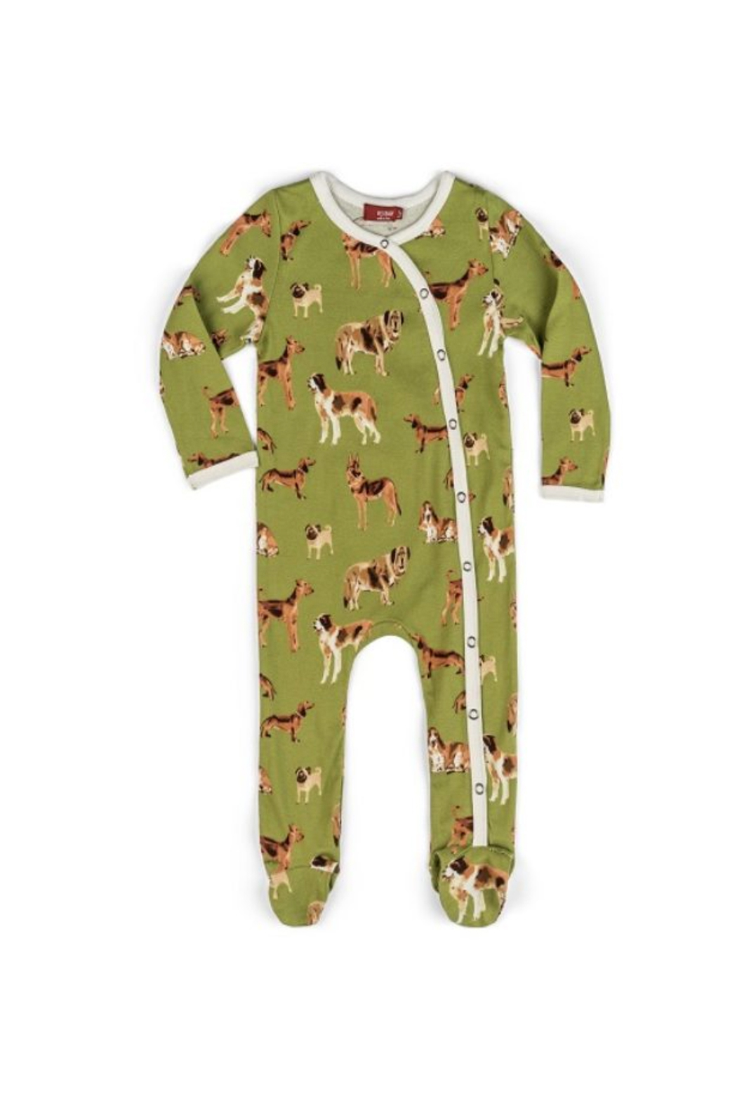 Milkbarn Organic Cotton Footed Romper - Front Cropped Image