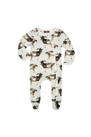 Milkbarn Organic Cotton Footed Romper - Product Mini Image