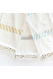 zest Organic Cotton Hudson Throw - Front cropped