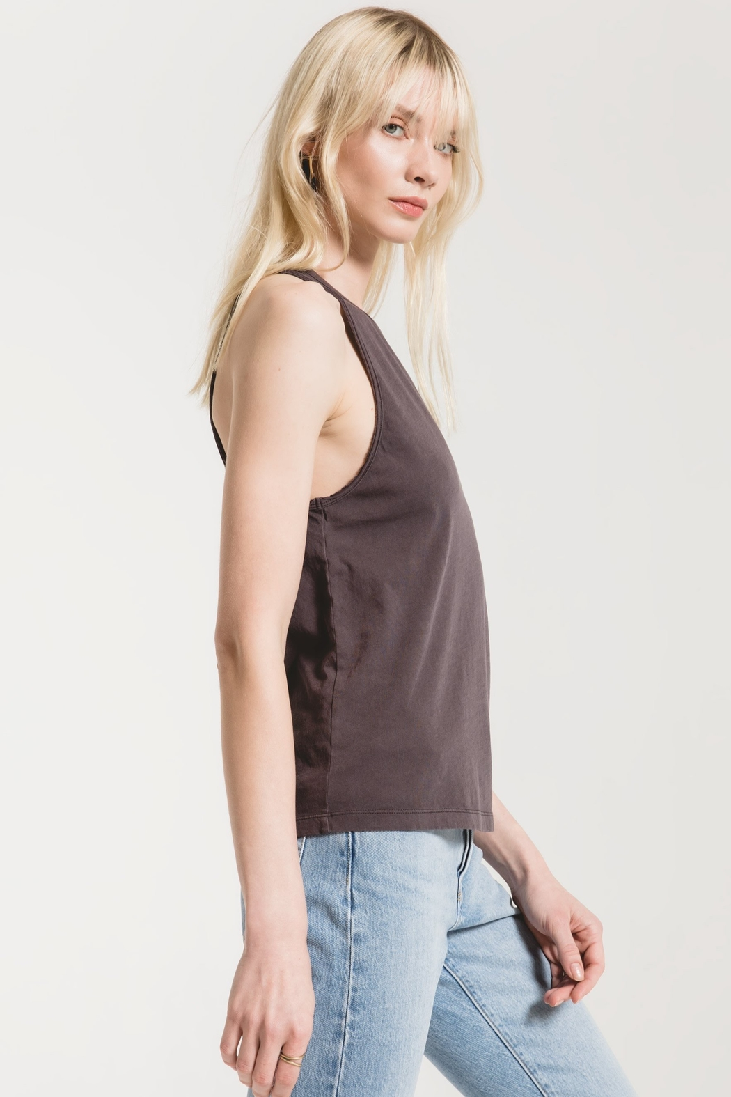z supply Organic Cotton Muscle Tank - Front Full Image