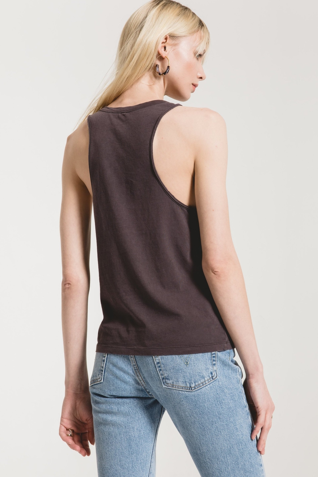 z supply Organic Cotton Muscle Tank - Side Cropped Image