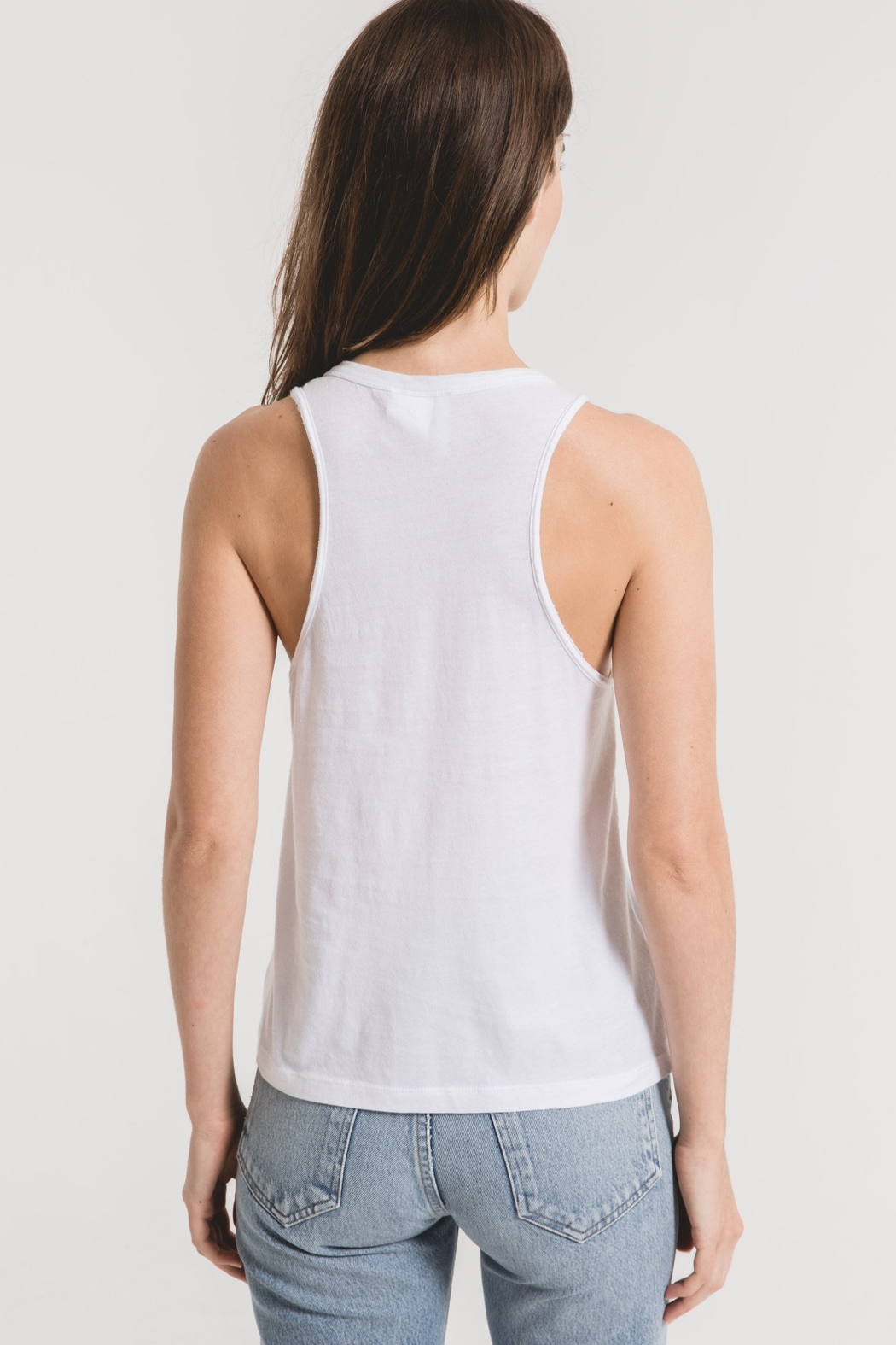 z supply Organic Cotton Muscle Tank - Back Cropped Image