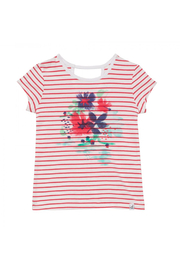 Deux Par Deux Organic Cotton Shirt - Azalea Stripes - Product Mini Image
