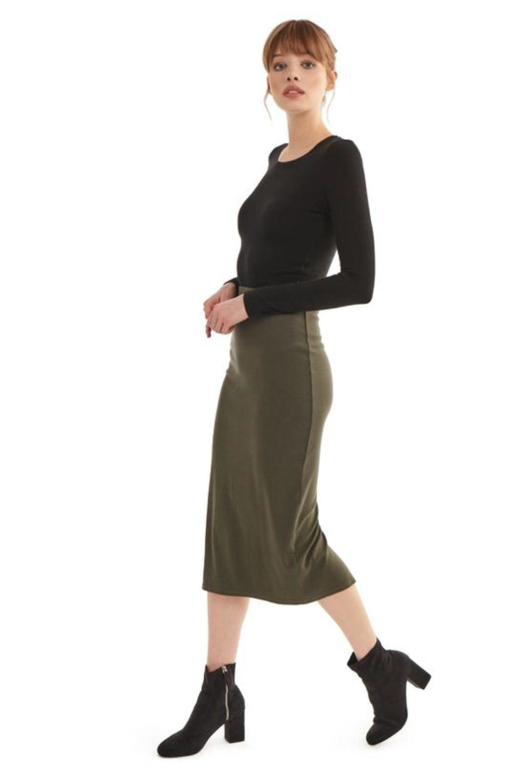 Groceries Apparel Organic Cotton Skirt - Front Full Image