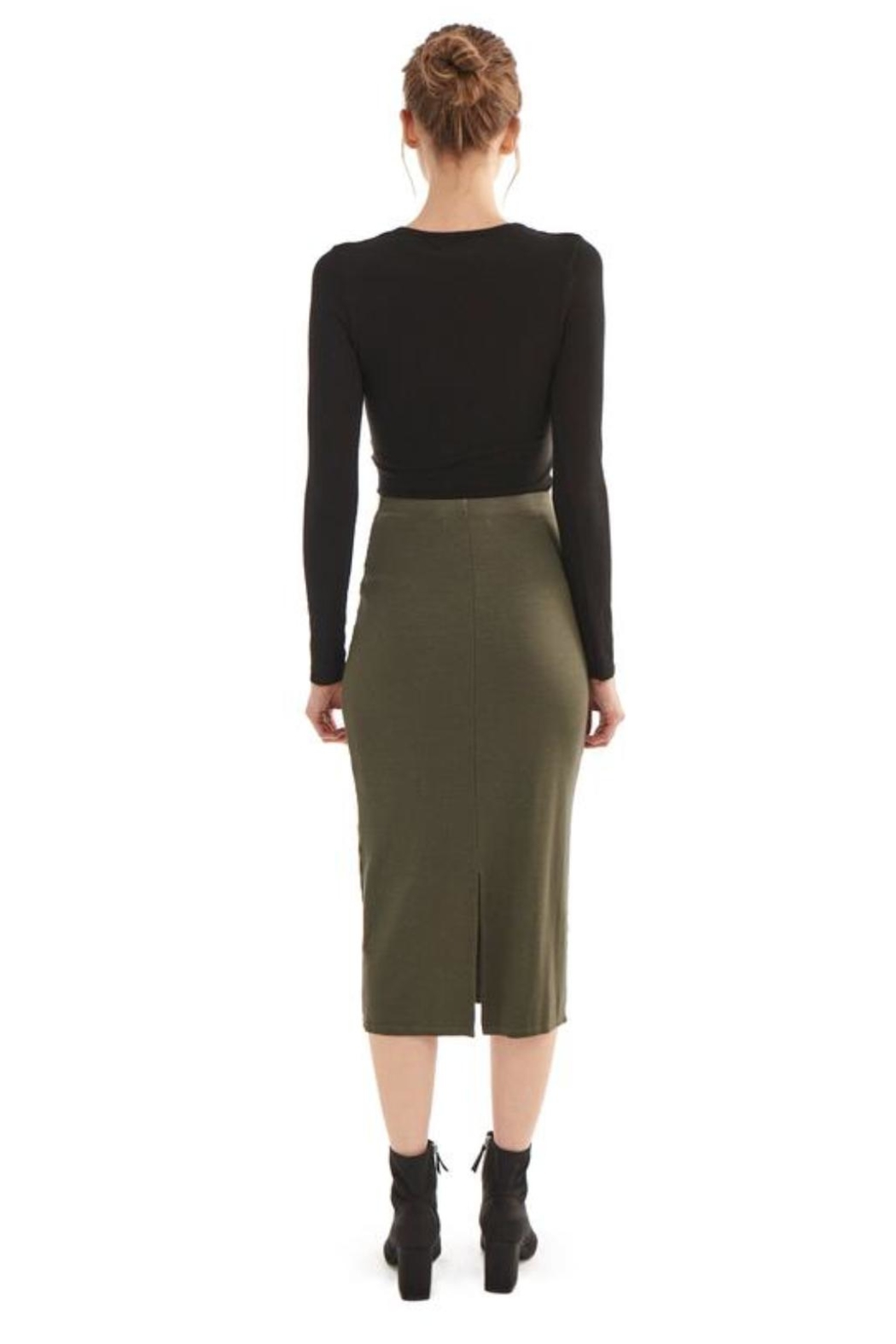 Groceries Apparel Organic Cotton Skirt - Side Cropped Image