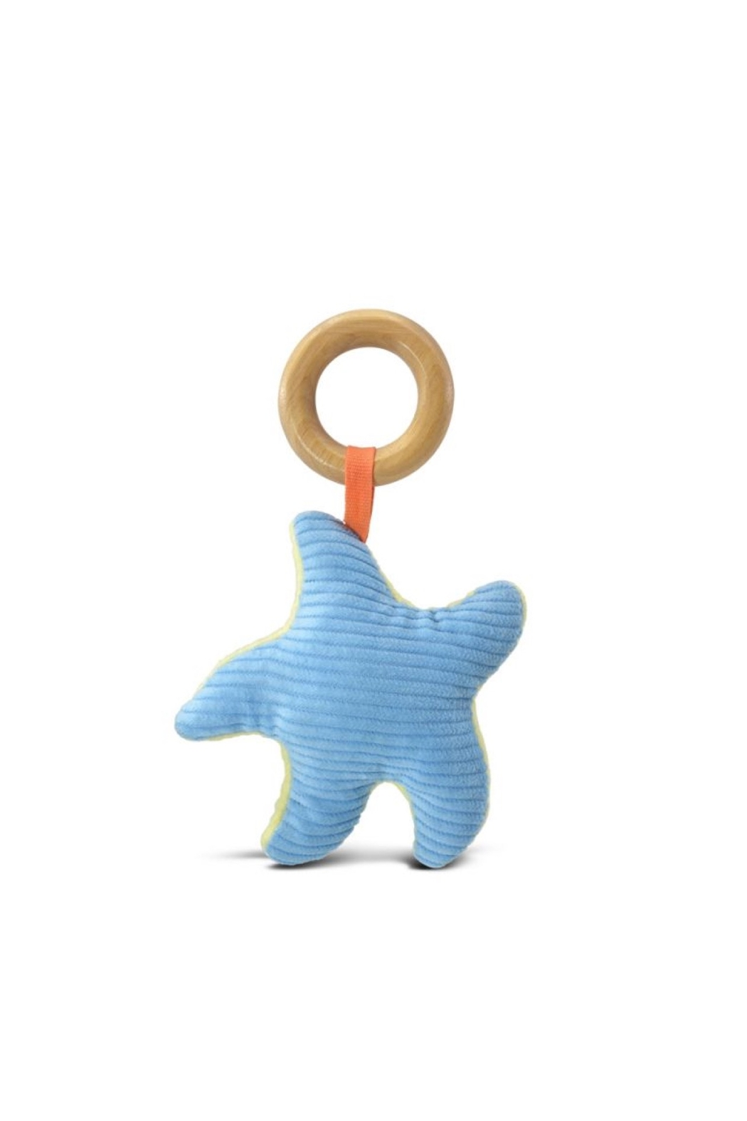 Apple Park Organic Cotton Starfish Teething Toy - Front Full Image