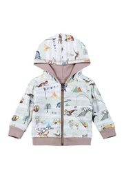 Paper Wings Organic Explore Nature Reversible Hoodie - Front cropped