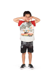 Paper Wings Organic French Terry Cargo Shorts - Side cropped