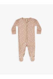 Quincy Mae Organic Full Snap Footie - Blossom Petal - Product Mini Image