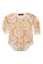 Milkbarn Kids Organic Grapefruit One-Piece - Front cropped