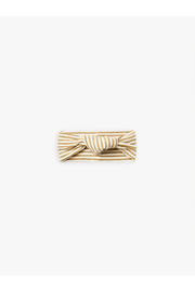 Quincy Mae Organic Knotted Headband - Gold Stripe - Product Mini Image