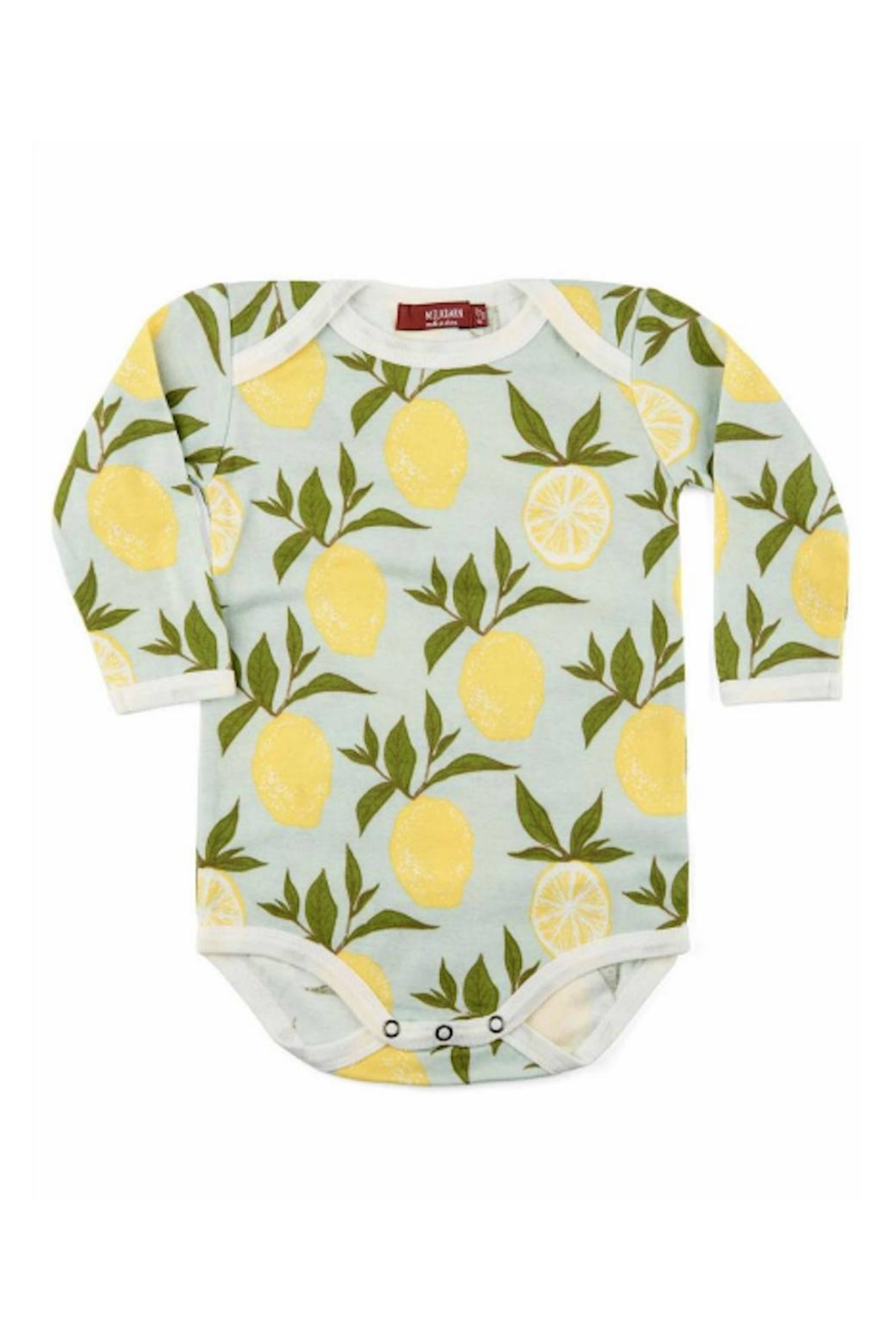 Milkbarn Kids Organic Lemon One-Piece - Front Cropped Image
