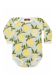 Milkbarn Kids Organic Lemon One-Piece - Front cropped