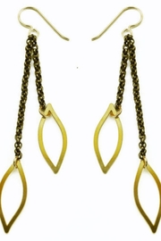 Daphne Olive Organic Line 2x Chain and Leaf Earrings - Product Mini Image
