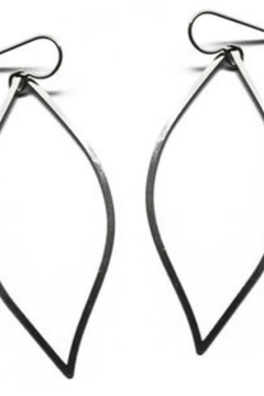 Daphne Olive Organic Line Leaf Earrings - Product List Image