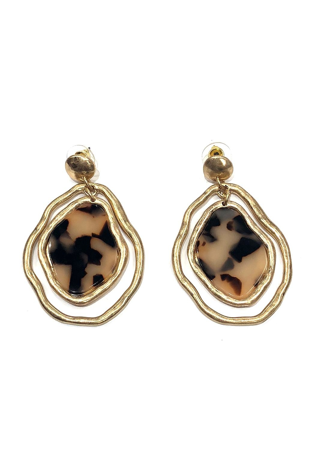 Wona Trading Organic Marble Earrings - Main Image
