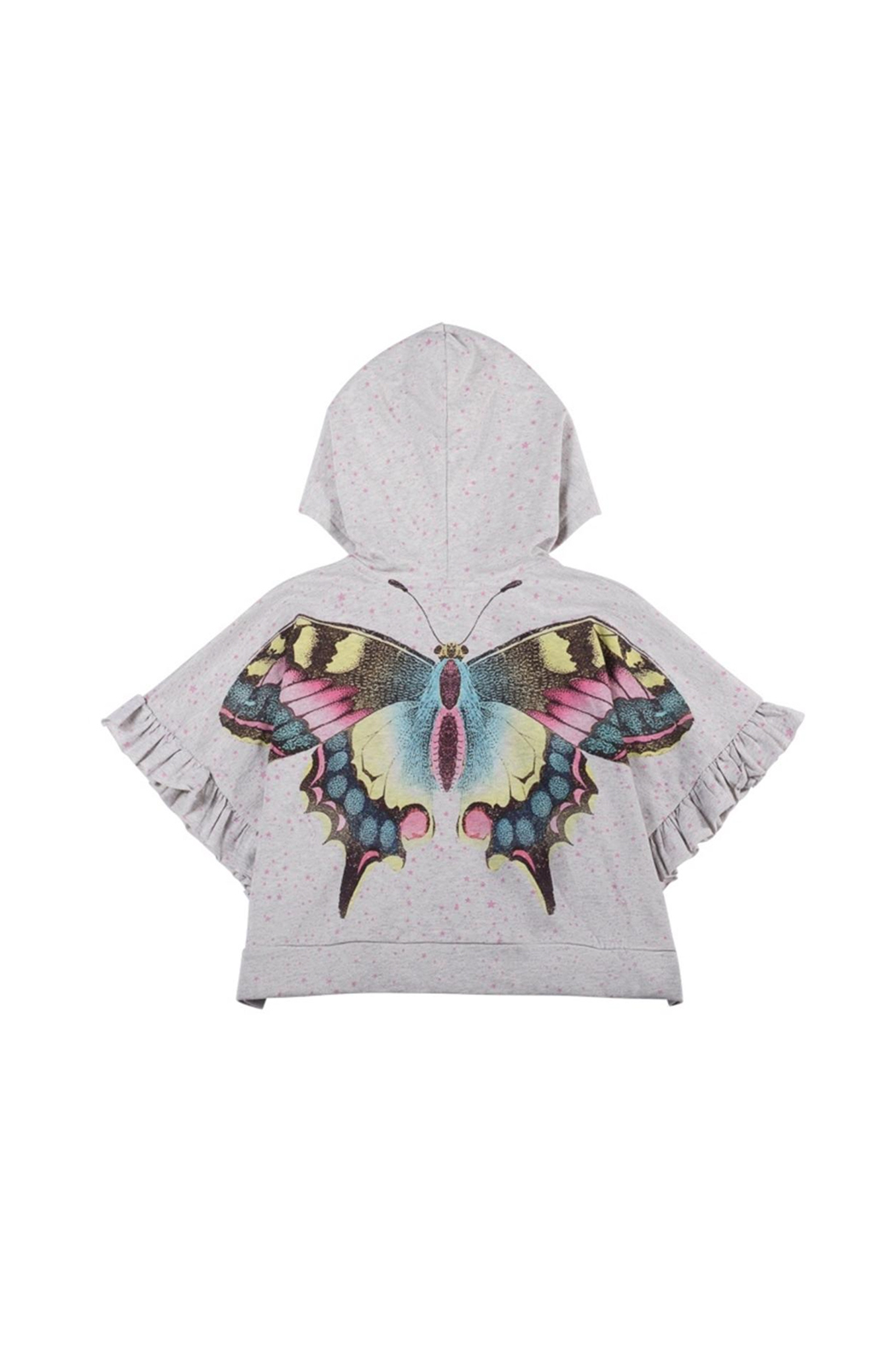 Paper Wings Organic Oversized Frilled Butterfly Hoodie - Main Image