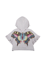Paper Wings Organic Oversized Frilled Butterfly Hoodie - Front cropped