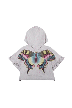 Shoptiques Product: Organic Oversized Frilled Butterfly Hoodie