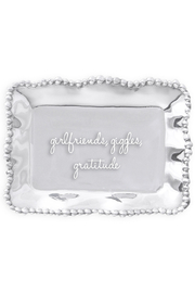 Beatriz Ball Organic Pearl Engraved Tray - girlfriends, giggles and gratitude - Product Mini Image