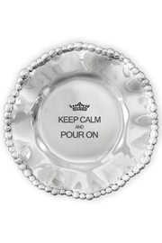 Beatriz Ball Organic Pearl Engraved Wine Plate - Product Mini Image