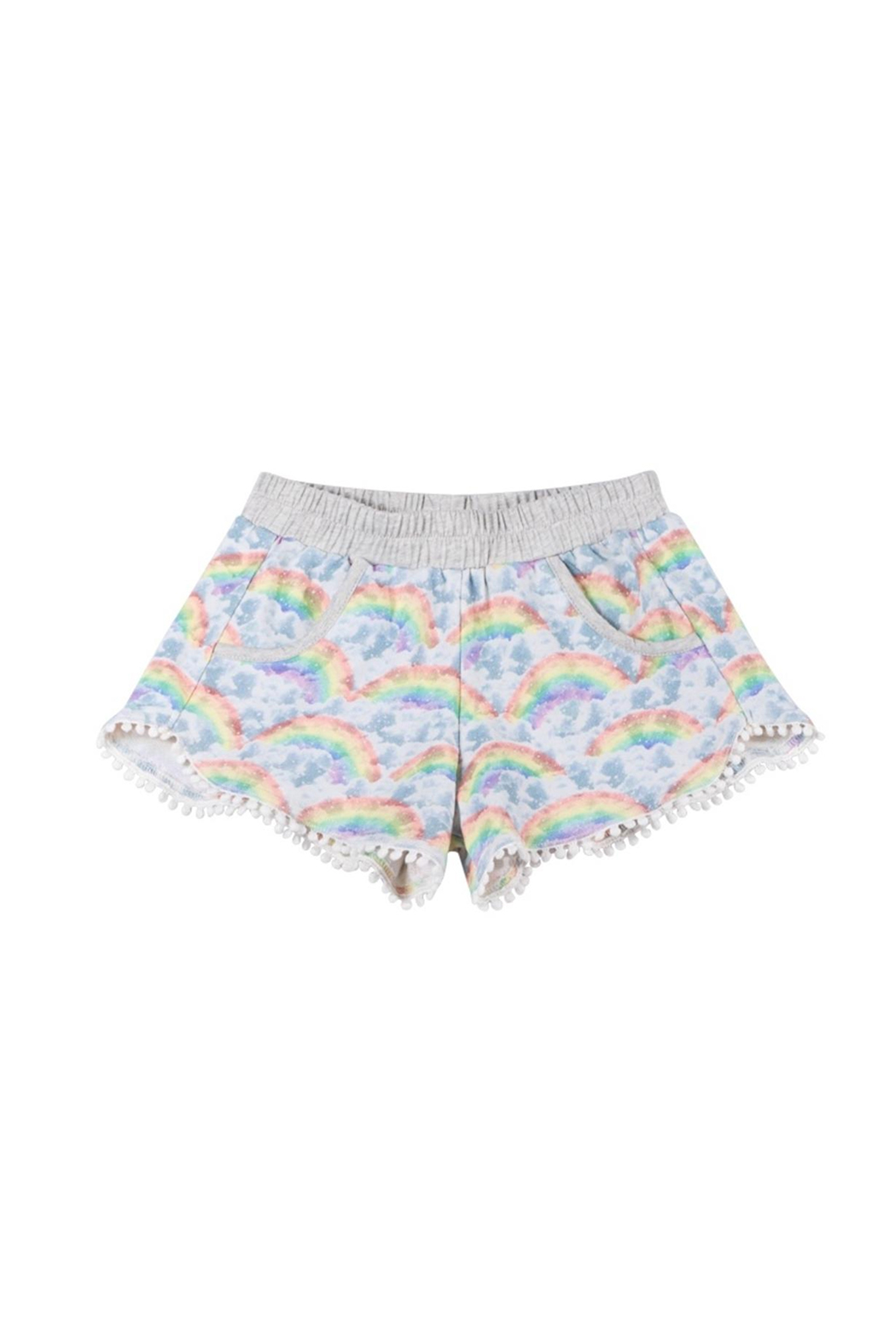 Paper Wings Organic Rainbow Clouds French Terry Shorts - Main Image