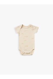 Quincy Mae Organic Short Sleeve Bodysuit - Natural Sunny Day - Product Mini Image