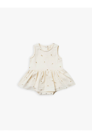 Quincy Mae Organic Skirted Tank Romper - Tiny Flower - Product Mini Image