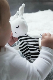 Wee Gallery Organic Stripes Cuddle-Bunny - Side cropped
