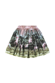 Paper Wings Organic Unicorn Gathered Skirt - Front cropped