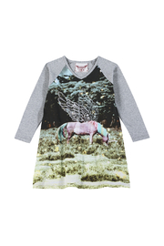 Paper Wings Organic Unicorn Raglan Dress - Product Mini Image