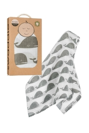 Milkbarn Kids Organic Whale Swaddle - Front cropped