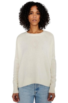 Organic by John Patrick Cashmere Wide Pullover In Ivory - Product List Image
