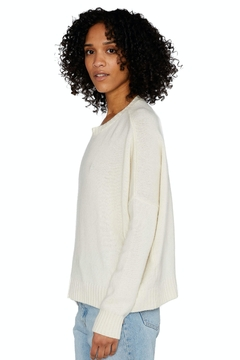 Organic by John Patrick Cashmere Wide Pullover In Ivory - Alternate List Image