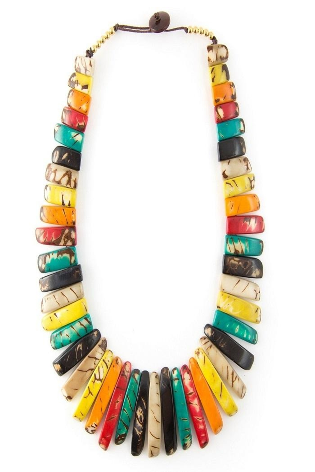 Organic Tagua Jewelry Amazon Tagua Necklace - Front Full Image