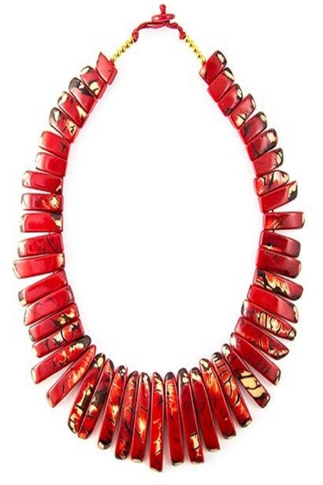 trade blue necklace cu products tagua fair nut