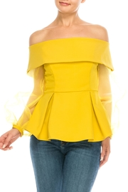 Ina Organza Sleeve Blouse - Product Mini Image