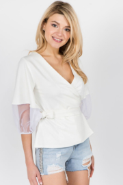 ontwelfth  Organza sleeve top - Product Mini Image