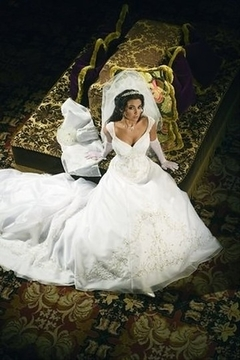Mary's Bridal Organza Wedding Gown In Ivory & Silver - Product List Image