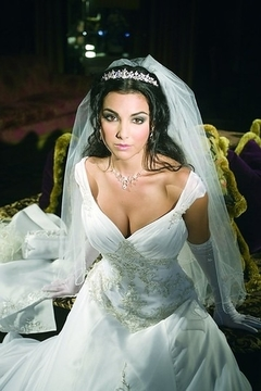 Mary's Bridal Organza Wedding Gown In Ivory & Silver - Alternate List Image