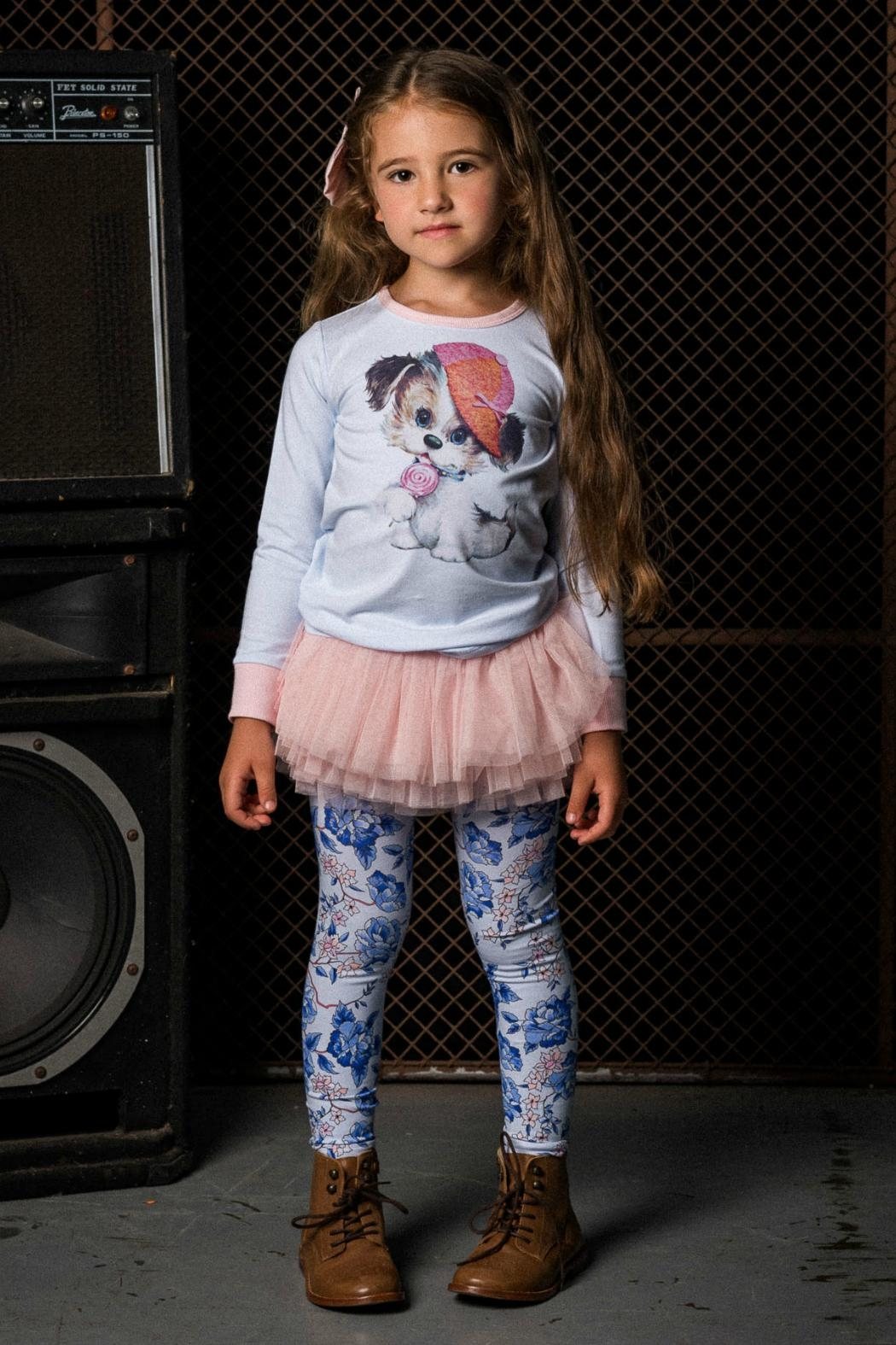 Rock Your Baby Oriental Floral Leggings - Front Full Image