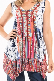 Orientique Flowy Boho Top - Front cropped