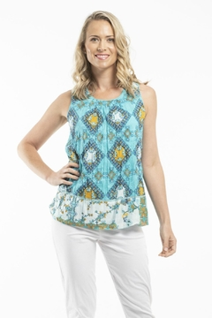 Orientique Reversible Sleeveless Top - Product List Image